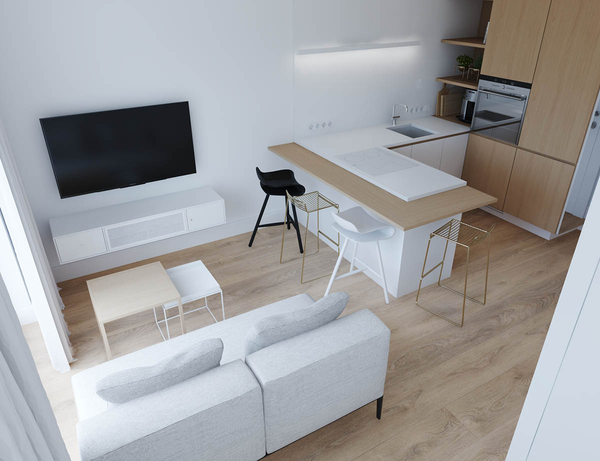 Studio Apartment Minimalist studio apartments in three modern styles