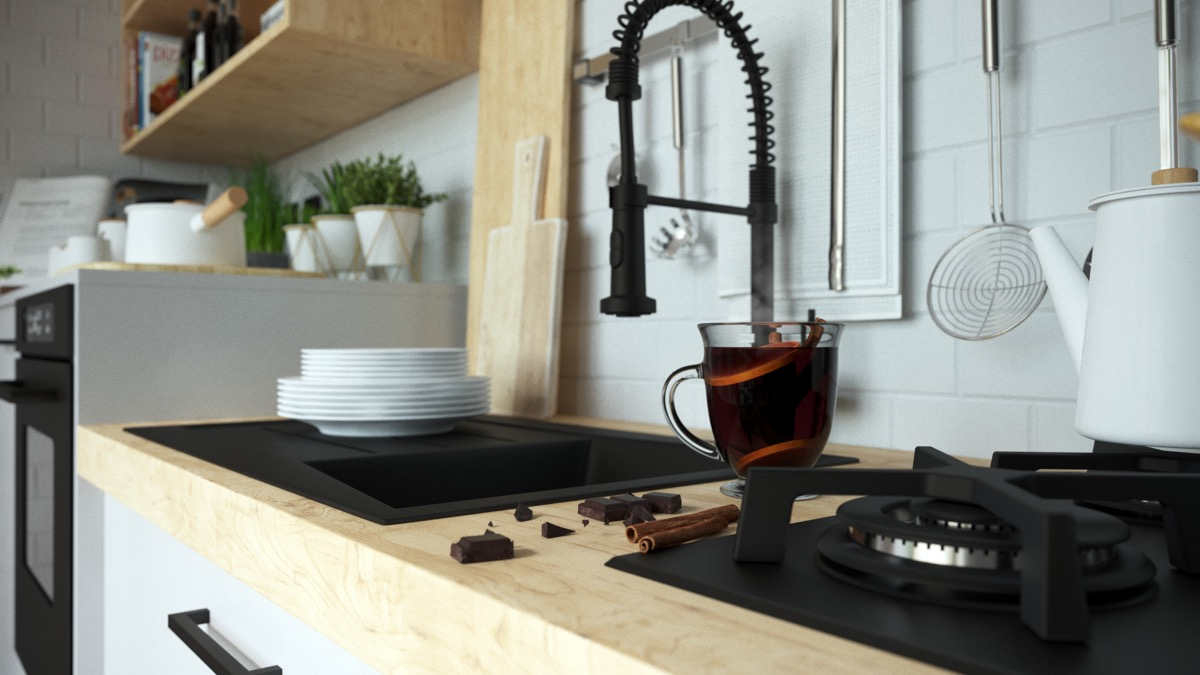 Modern Apartment Kitchen Fixtures - 3 fabulous apartment designs with lofted bedrooms