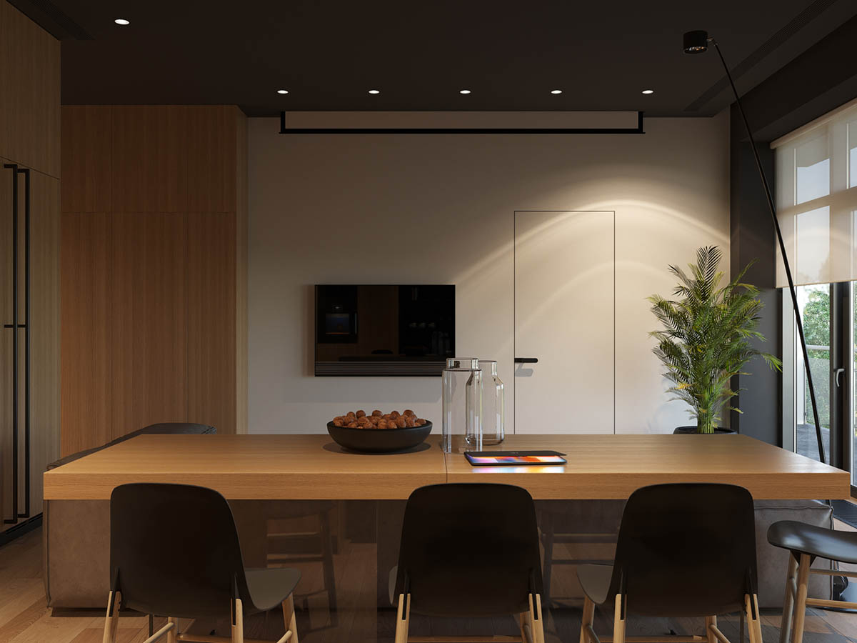 Modern Dining Design - 4 homes with design focused on beautiful wood elements
