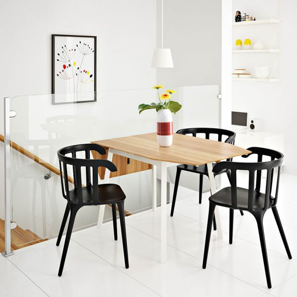 50 modern dining chairs to set your table with style for Modern low back dining chairs