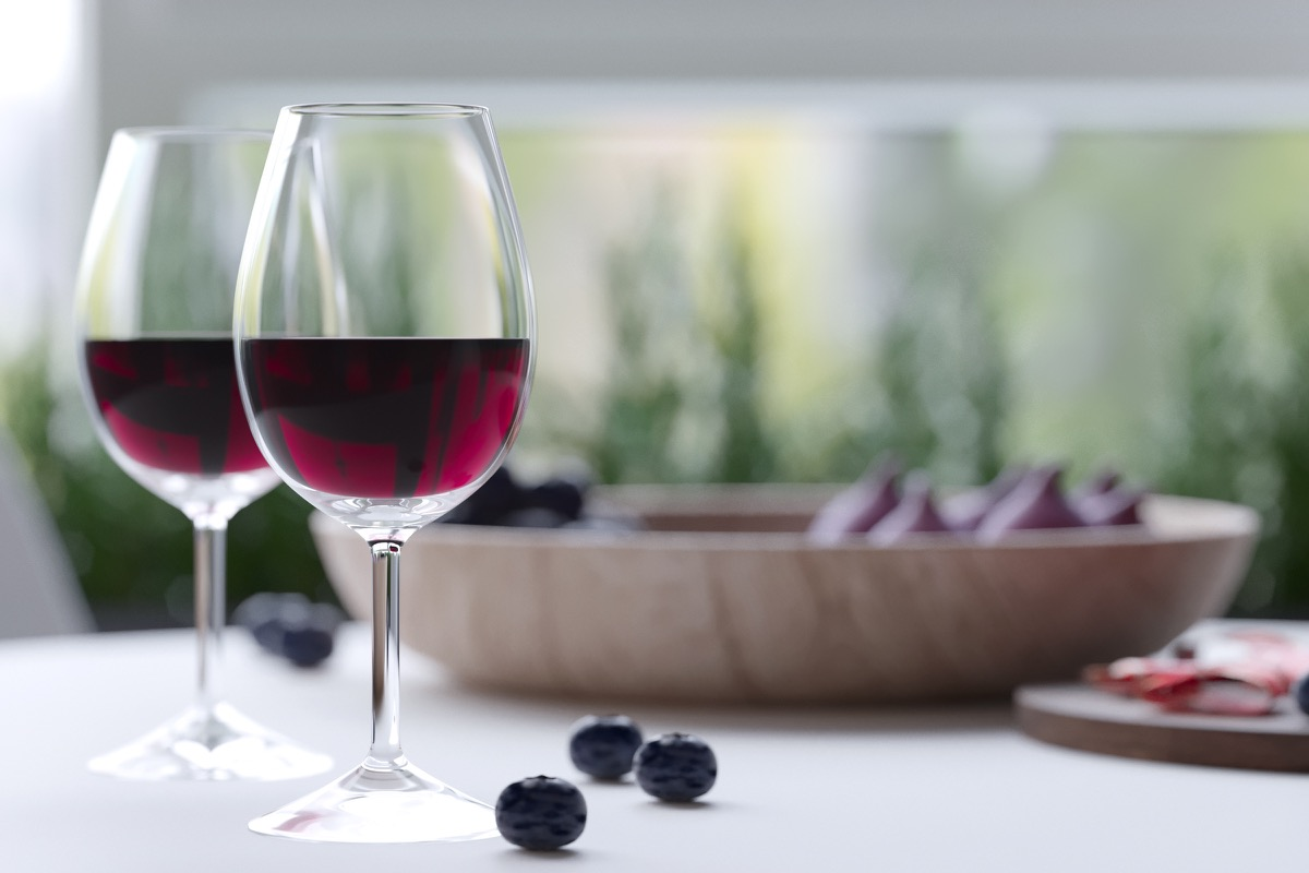 Modern Wine Glasses - 5 studio apartments with inspiring modern decor themes