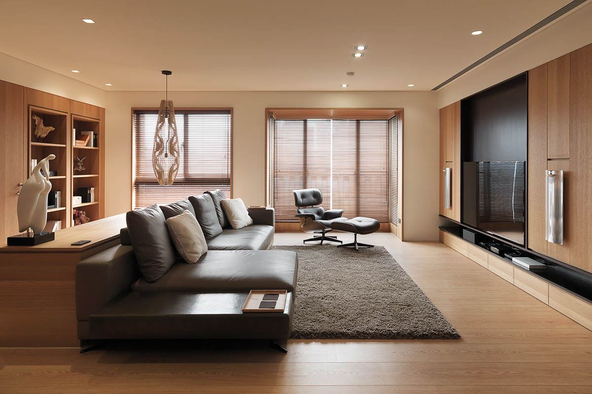 4 homes with design focused on beautiful wood elements for Living room concepts