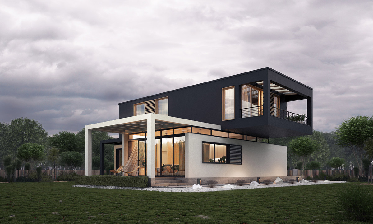 contemporary house exteriors