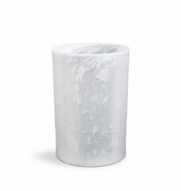 white trash can. BUY IT · Plastic Trash Can White