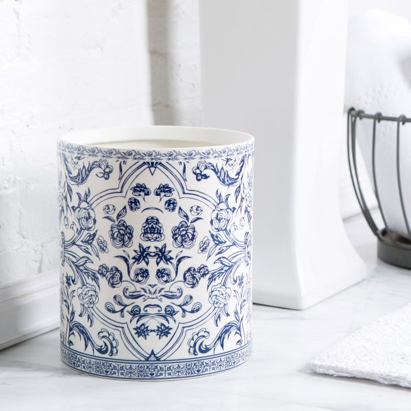 40 unique trash cans that solve all your rubbish problems for White ceramic bathroom bin