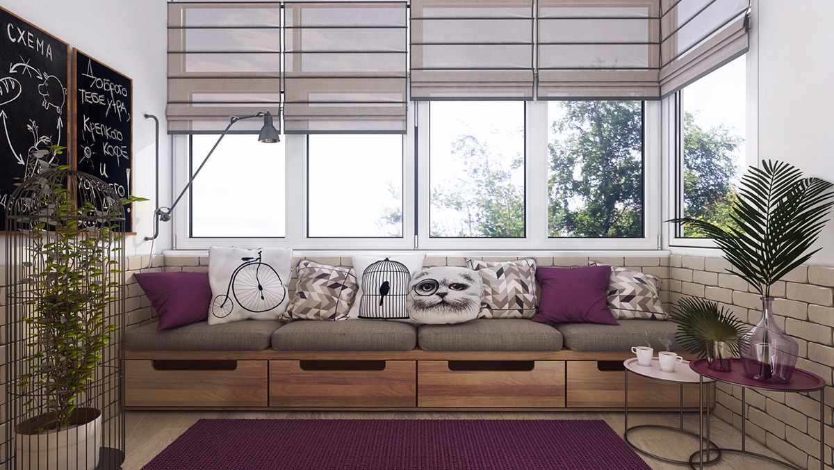 Purple Lilac Home Decor - 3 one bedroom apartments under 750 square feet 70 square metres includes layouts