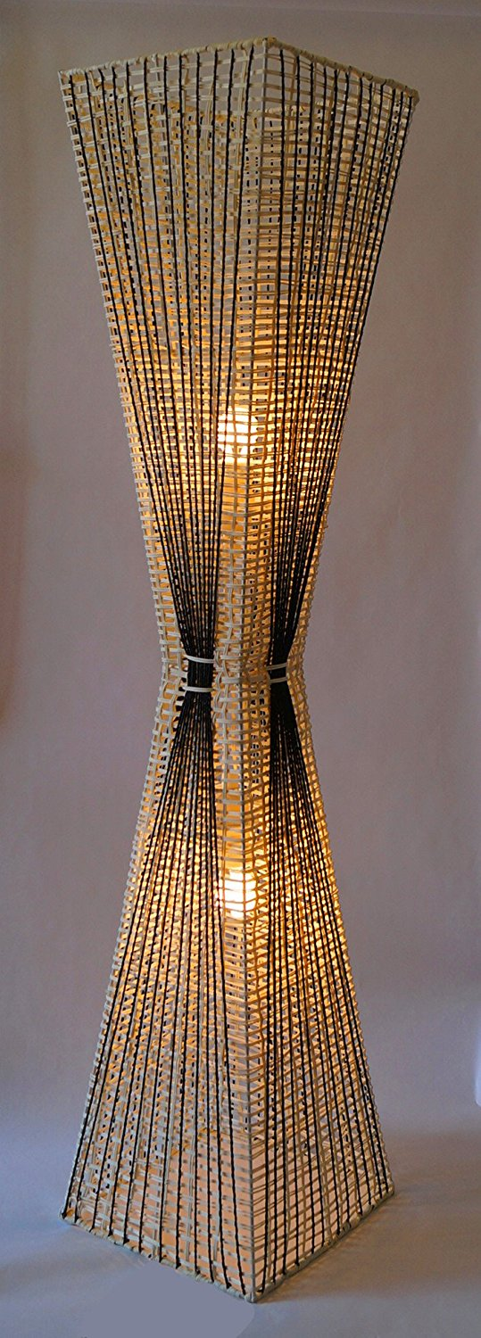 BUY IT · Handmade Rattan Hour Glass Floor Lamp: ...
