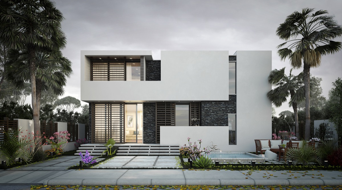 50 stunning modern home exterior designs that have awesome for Modern roman villa house plans