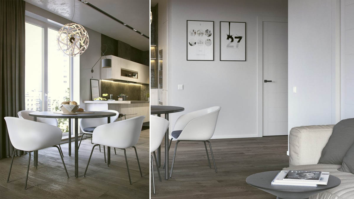 Rounded Dining Room Furniture - 3 one bedroom apartments under 750 square feet 70 square metres includes layouts