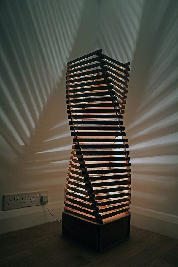 buy it wooden sculptural floor lamp