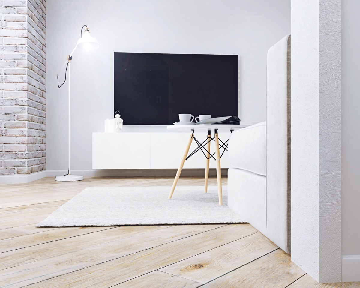 Scandinavian Inspired Apartment With Whitewashed Brick Walls - 5 studio apartments with inspiring modern decor themes