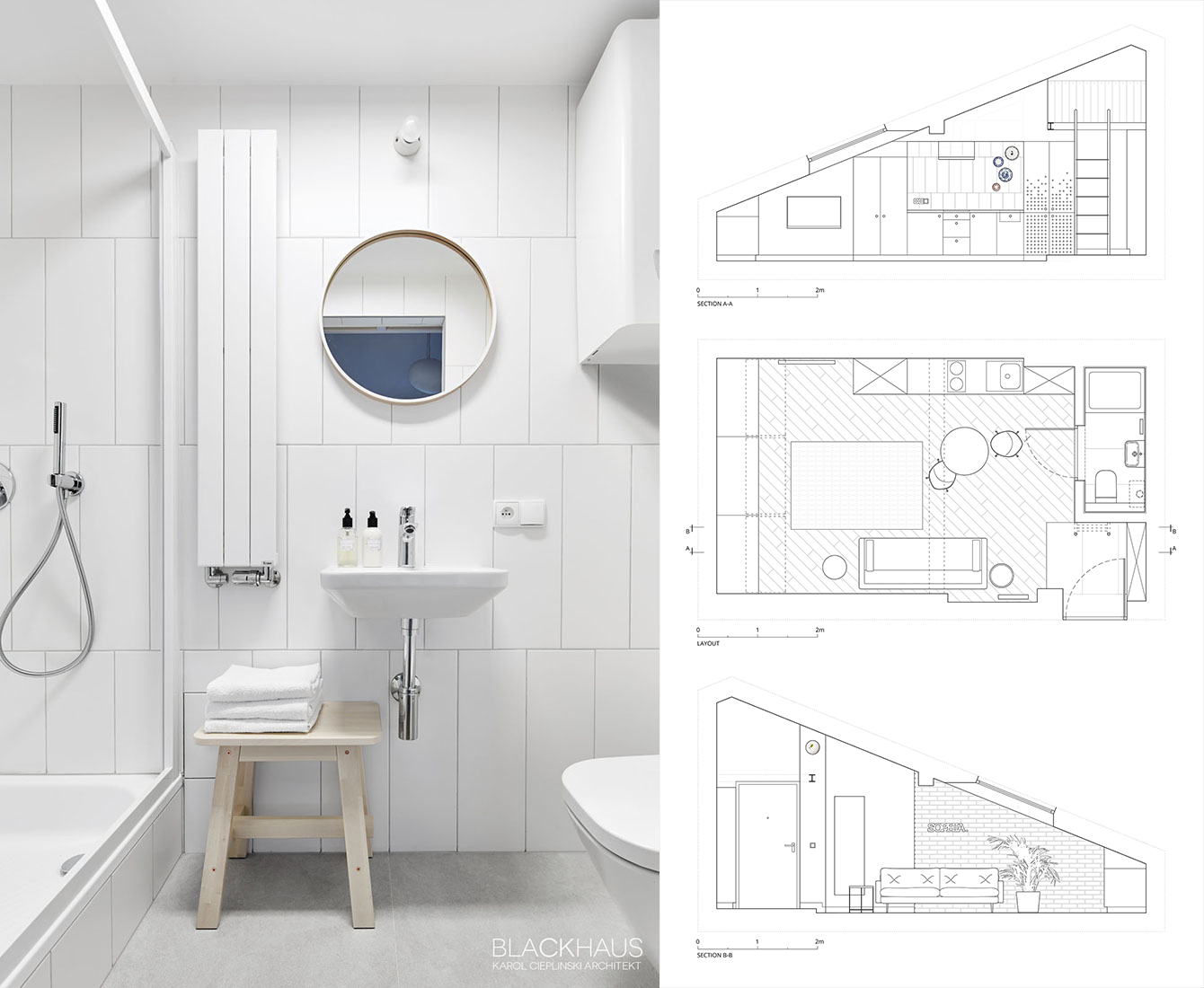 Small Apartment Bathroom Floor Plan - 3 fabulous apartment designs with lofted bedrooms