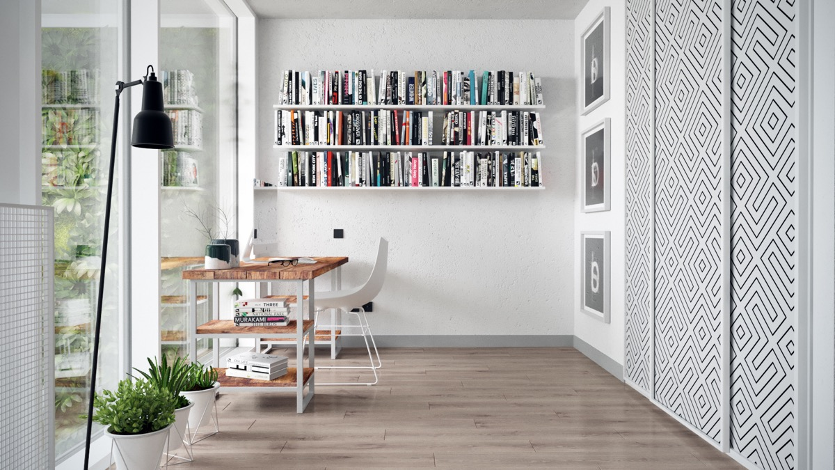 Small Apartment Library Inspiration - 3 fabulous apartment designs with lofted bedrooms