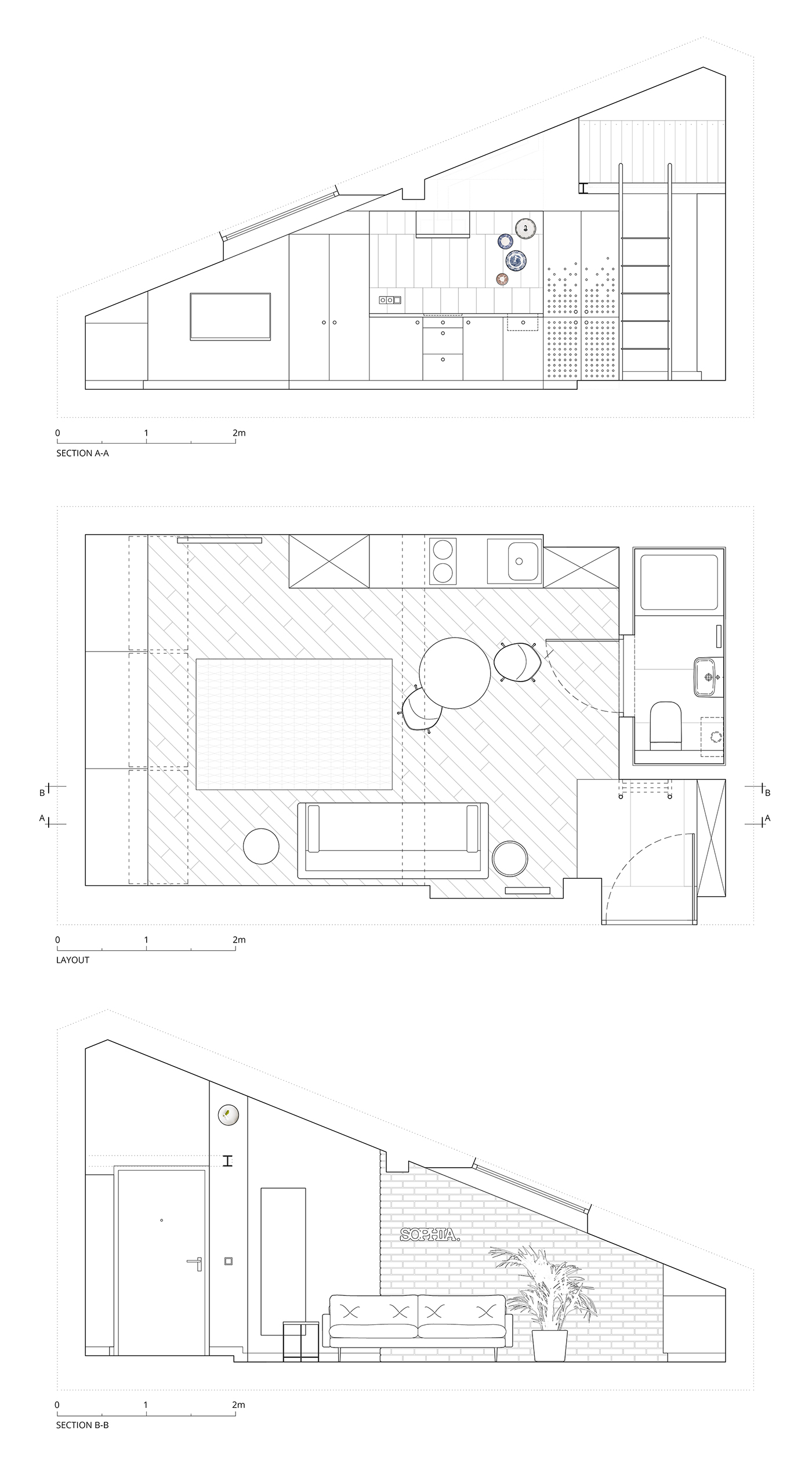 Small Apartment With Loft Floor Plan - 3 fabulous apartment designs with lofted bedrooms
