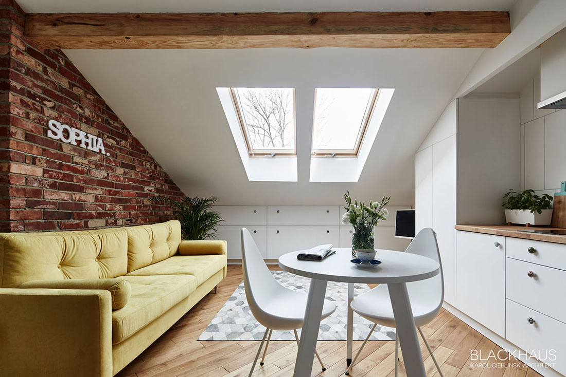 Small Attic Apartment Inspiration - 3 fabulous apartment designs with lofted bedrooms