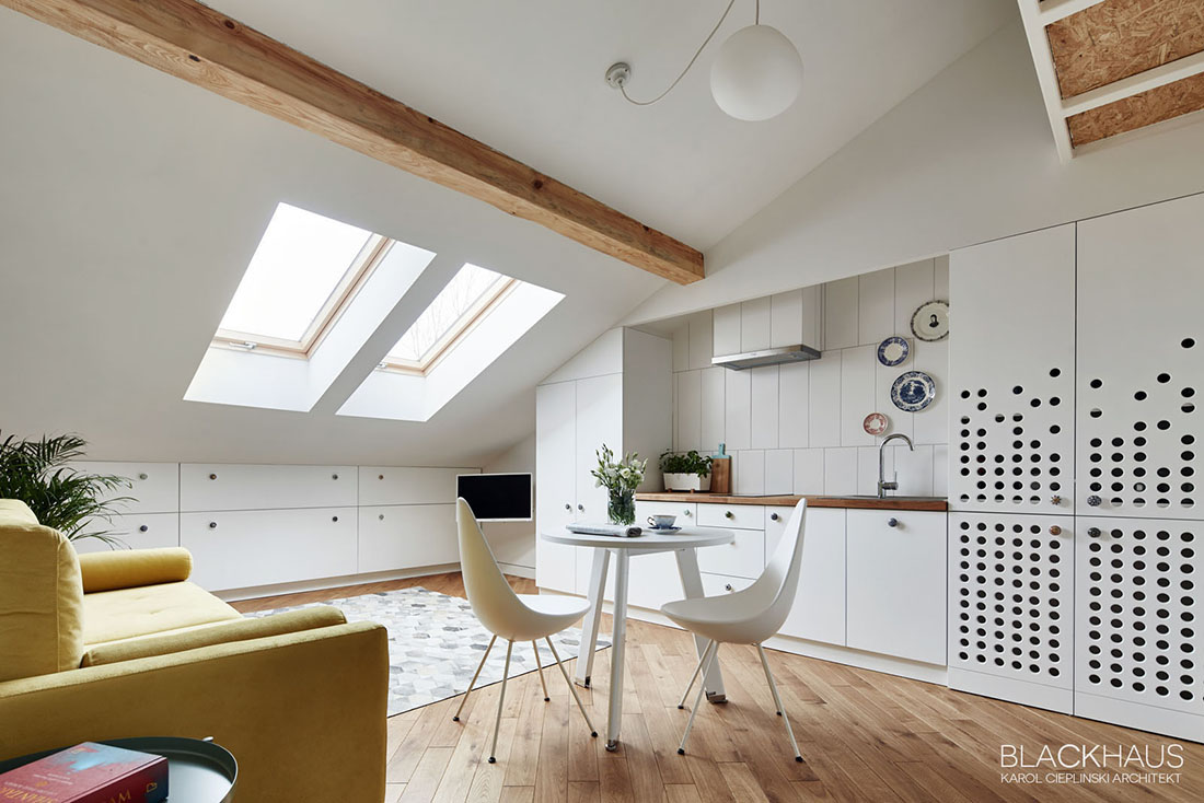 Unique Small Apartment With Gable Ceiling - 3 fabulous apartment designs with lofted bedrooms