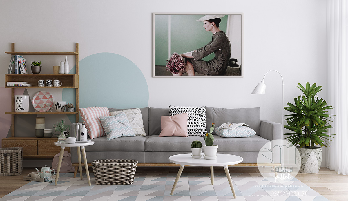 three inspirational scandinavian interiors achieving pastel perfection. Black Bedroom Furniture Sets. Home Design Ideas
