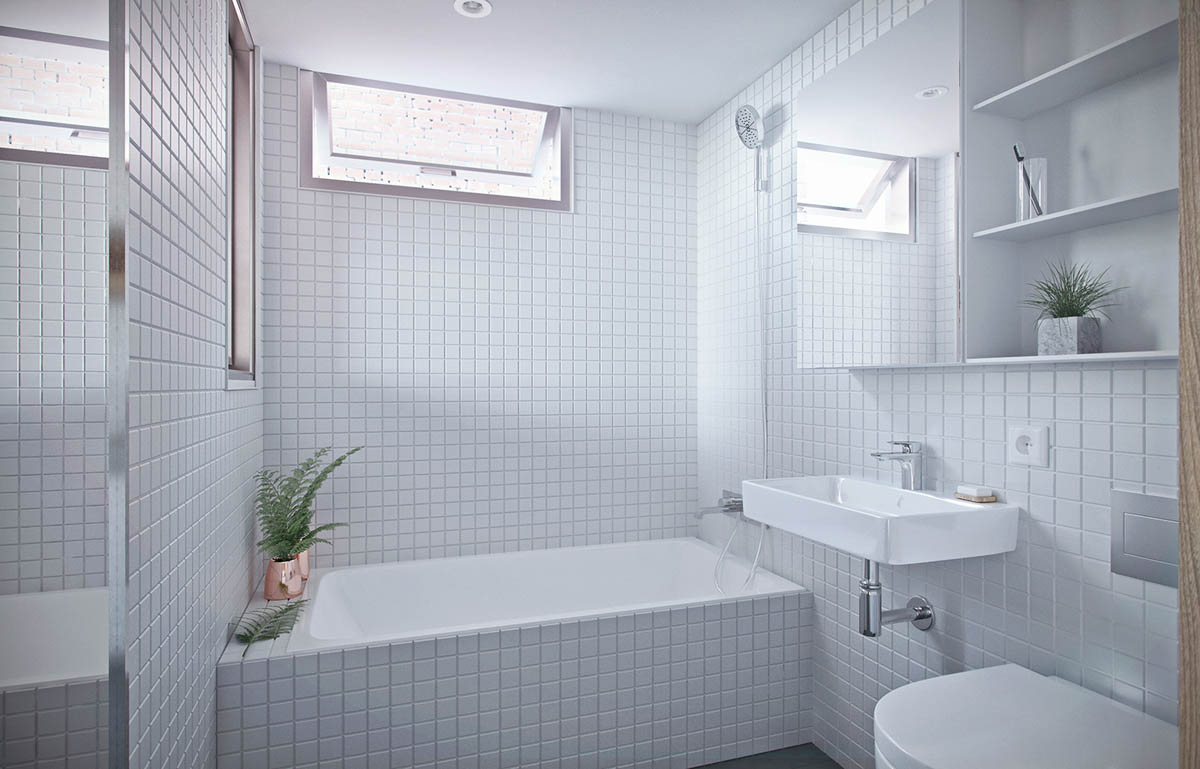 White Bathroom - 4 studios that make beautiful use of natural light
