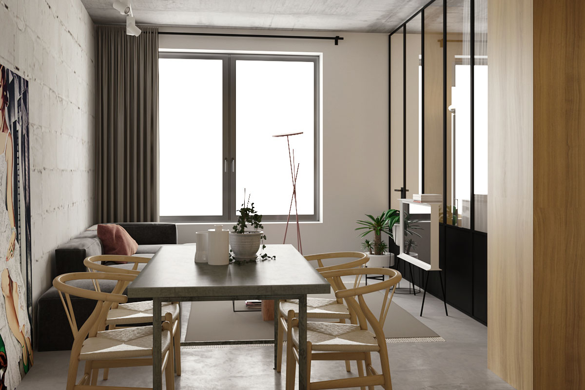 Wood Small Apartment Dining Room - 5 studio apartments with inspiring modern decor themes
