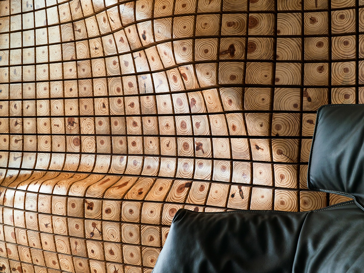 Wood Wall Art - 4 homes with design focused on beautiful wood elements