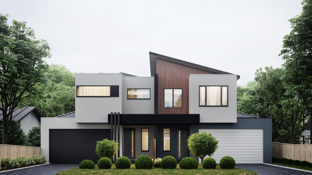 1 visualizer 3dvue - Modern Home Exterior Wood