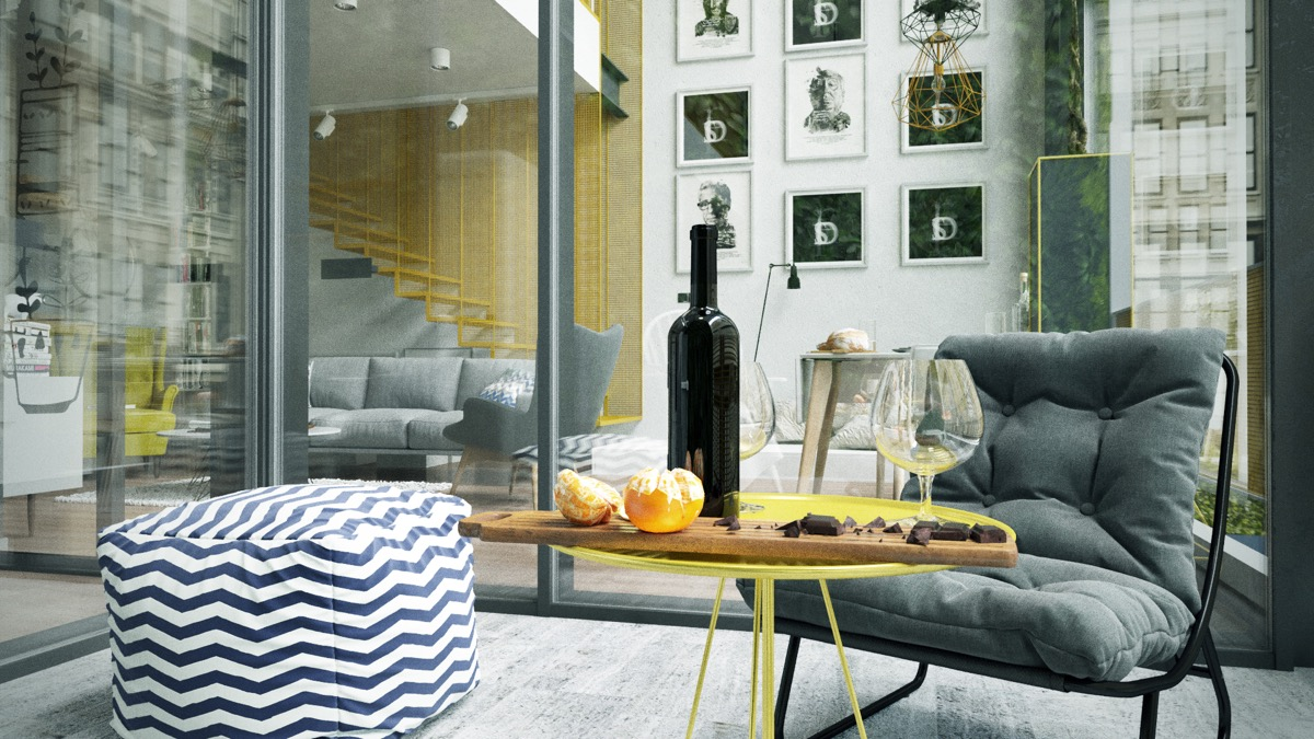 Yellow And Grey Apartment Interior Decor - 3 fabulous apartment designs with lofted bedrooms