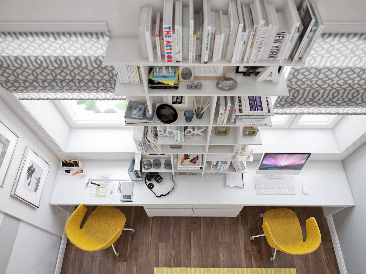 Genial 13 |; Visualizer: Alex Schiry. Hereu0027s Another Great Home Office ...