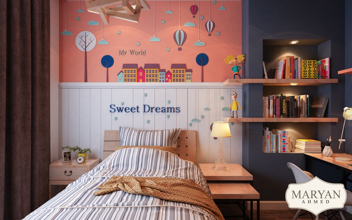 Clever Kids Room Wall Decor - Dark themed kids rooms