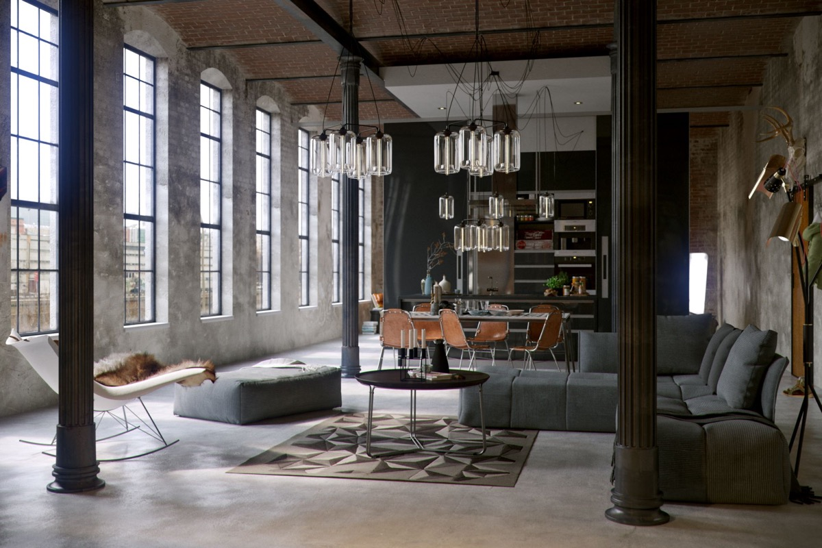 30 ... & Industrial Style Living Room Design: The Essential Guide