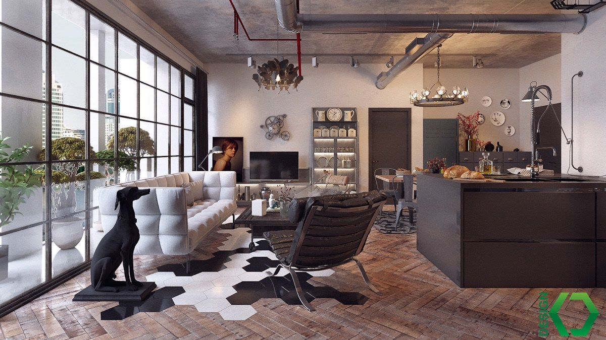 Industrial Living Room Ideas industrial style living room design: the essential guide