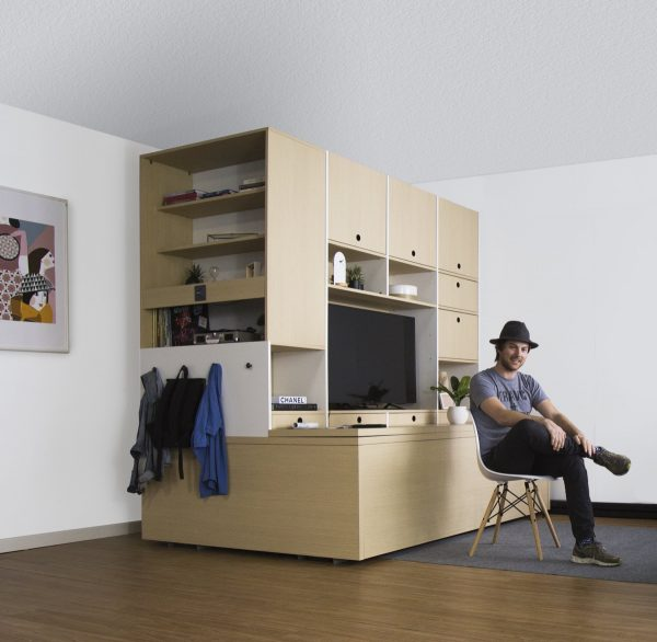 A super space saving solution for small apartments for Studio apartment solutions