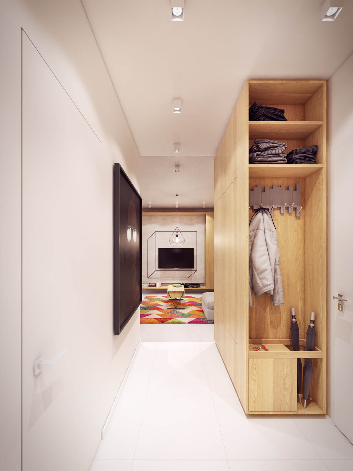 Home Designing A Comfortable Modern Home With Colorful Accents Contemporary Designers