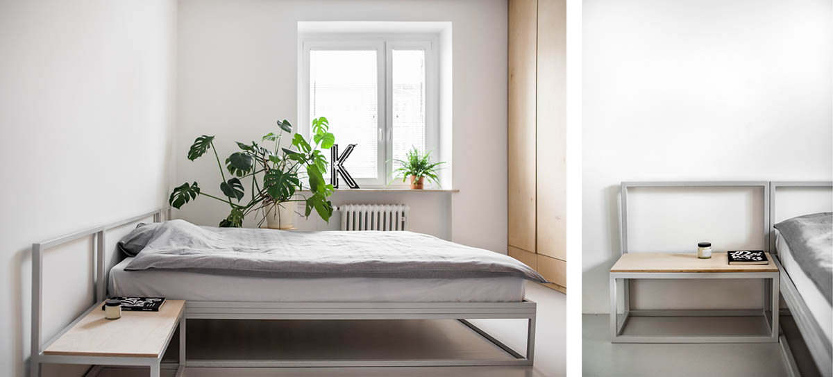 Draping Swiss Cheese Plant Simple Bedroom - 3 light and bright apartments celebrating white space
