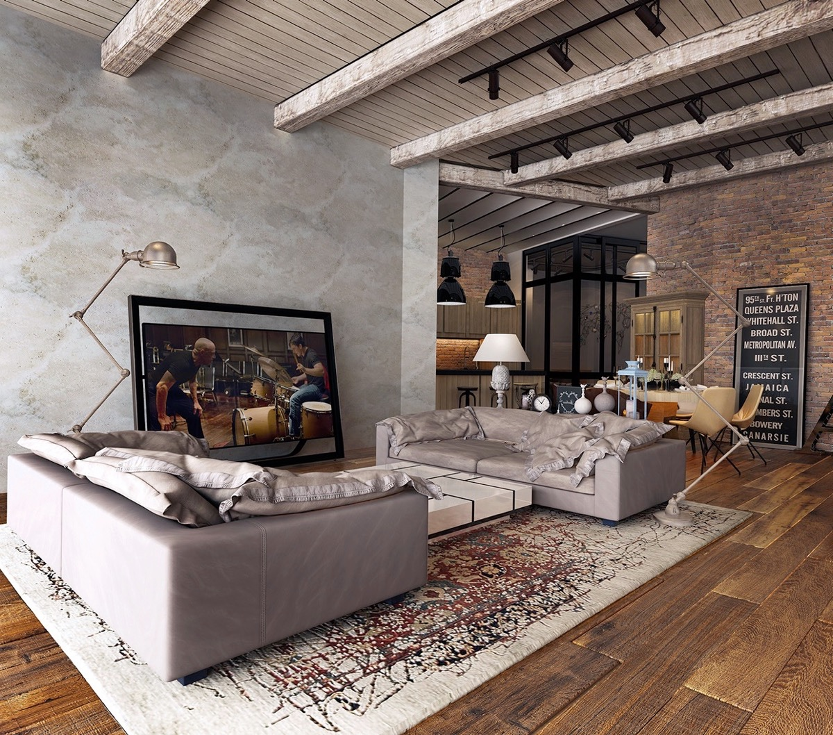 Industrial Style Living Room Design: The Essential Guide