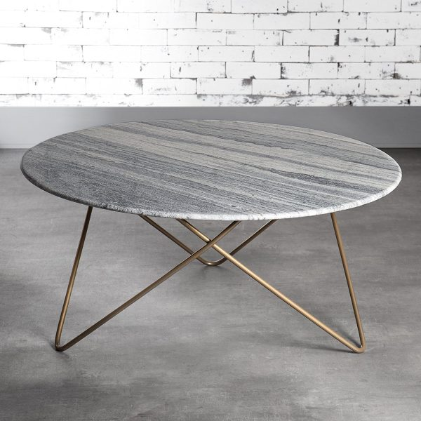 New BUY IT Round Marble Coffee Table