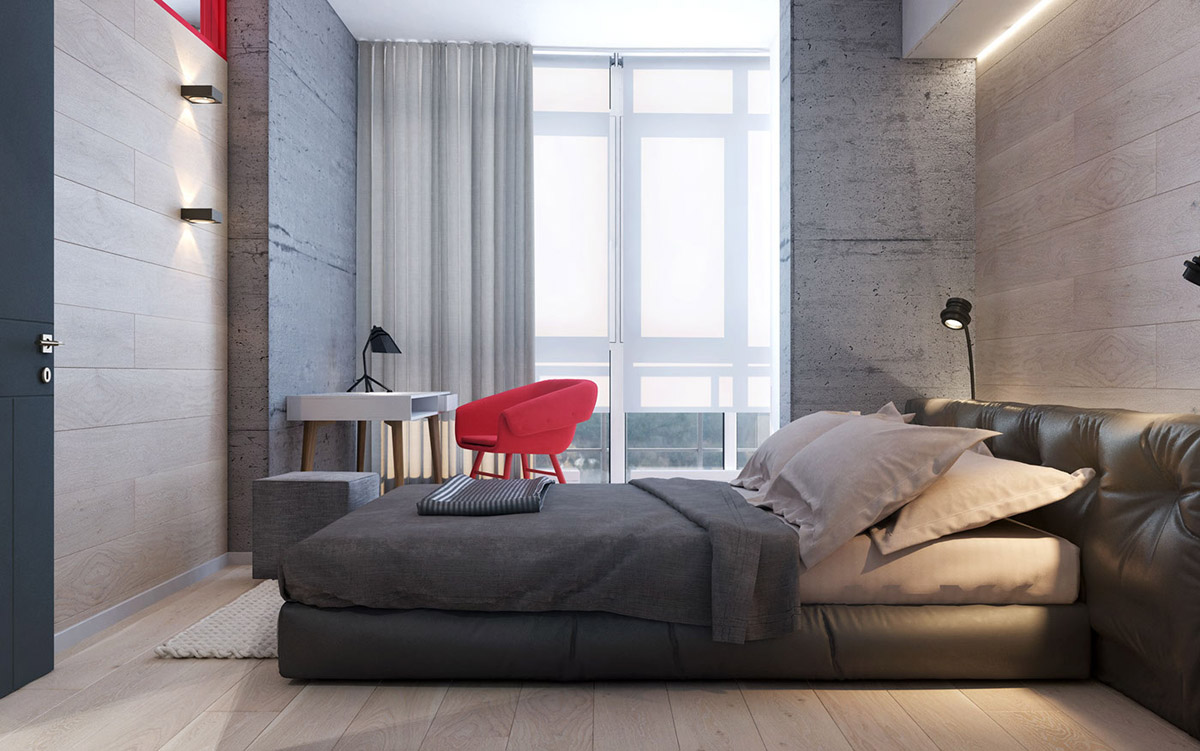 3 Modern Apartment Interiors That Masterfully Demonstrate How To Use Red As  A