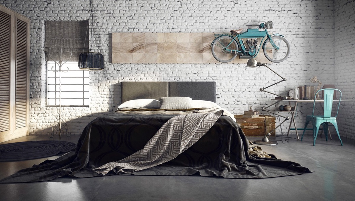 style en industrial modern inspiration lookbook vintage bedroom structube