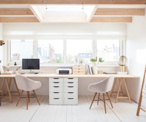 Amazing 36 Inspirational Home Office Workspaces That Feature 2 Person Desks ...