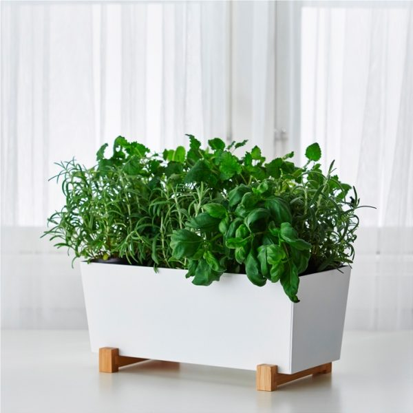30 indoor herb pots and planters to add flavor to any home for Black planters ikea