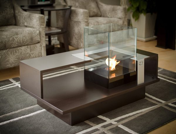 Unique BUY IT Coffee Table With Fireplace