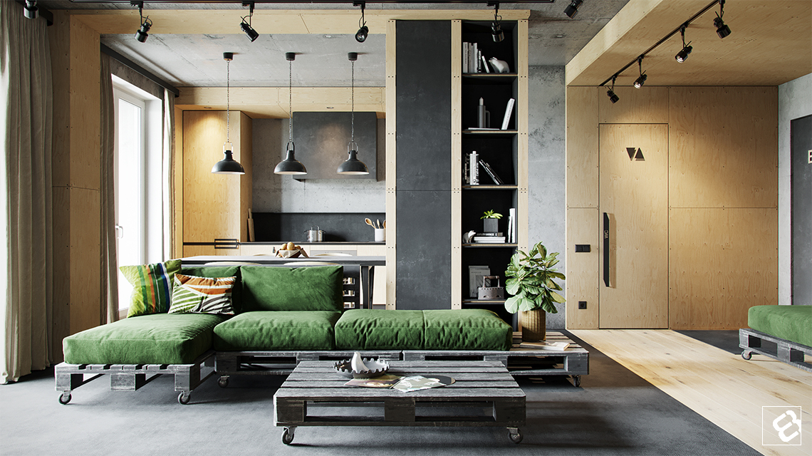 Design your own industrial style interior by taking