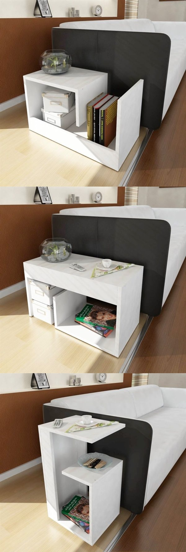 This end table is a fitting match for white or silver lounge accessories buy it