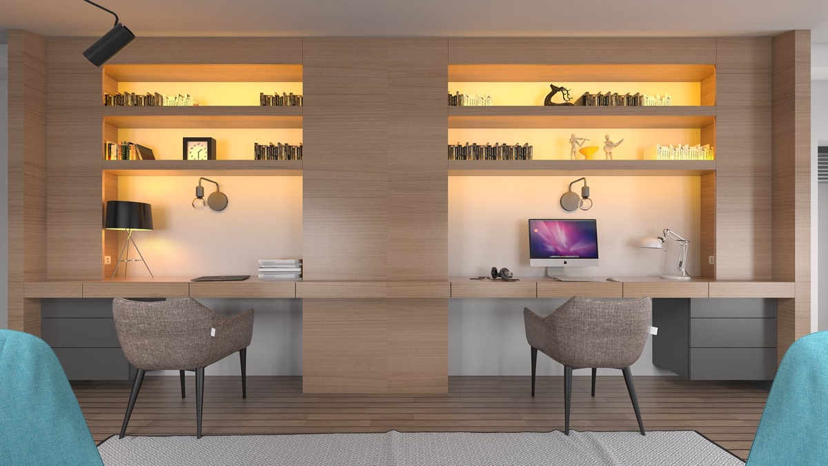 Home Office Designs For Two Classy 36 Inspirational Home Office Workspaces That Feature 2 Person Desks Review