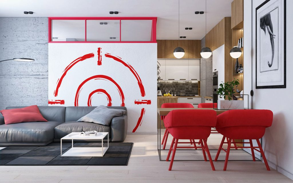 Modern apartment interiors that masterfully demonstrate