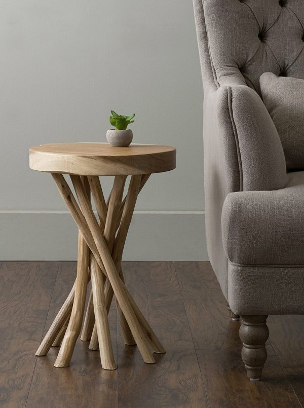 50 unique end tables that add the perfect living room for Small wood end table