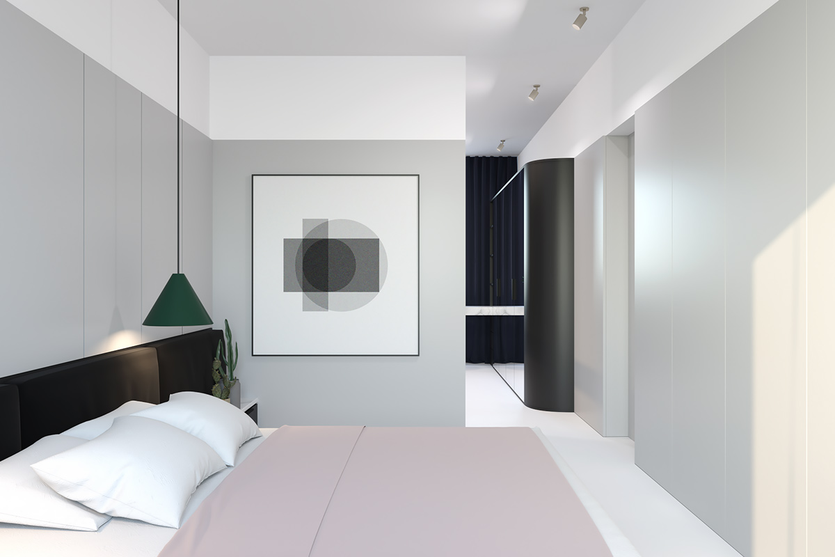 Soft Toned Bedroom Dusky Pink Throw - 3 light and bright apartments celebrating white space