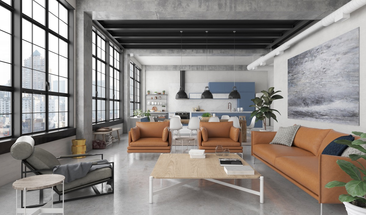 Industrial style living room design the essential guide for Modern look living room