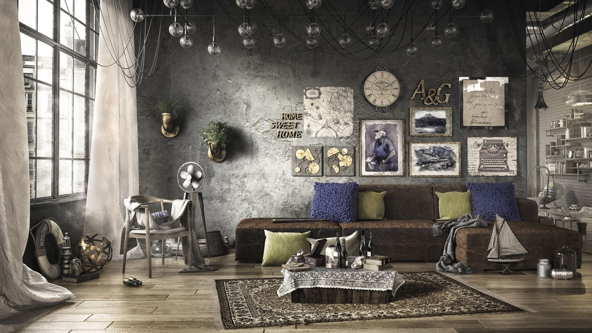 Industrial Style Living Room Design The Essential Guide