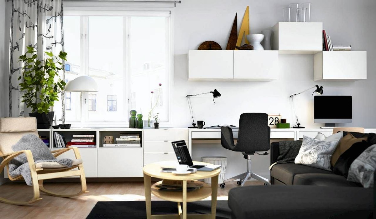 White Office Desk at Home and Interior Design Ideas