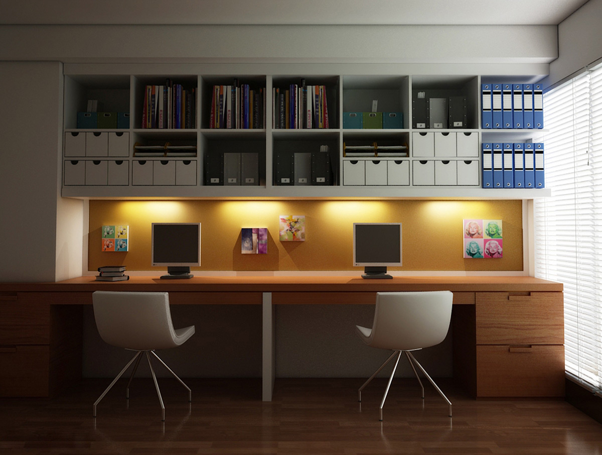 36 inspirational home office workspaces that feature 2 person desks rh home designing com 2 person corner desk for home office